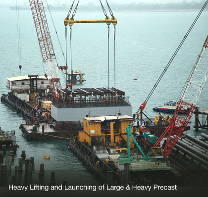 Heavy Lifting and Launching of Large and Heavy Precast
